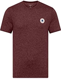2c17501829da Converse T-Shirt - Mens Heathered Left Chest Patch Tee in Blue