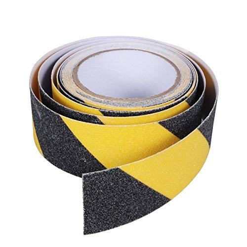 BESTOMZ Nastro adesivo di sicurezza antiscivolo di 5cm x 5M in Nero e Giallo