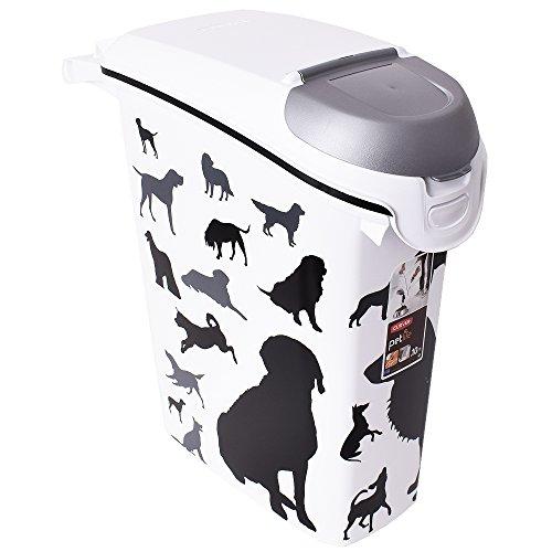 Curver Tierfutterbehälter Motiv Hund Aufbewahrung Tierfutterbox 23 Liter 10 kg mit Deckel