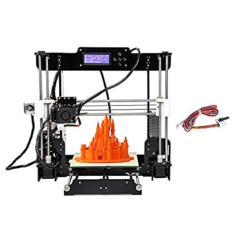 Anet Reprap i3 A8 Imprimante 3D en kit Desktop Haute Precision DIY MK8 Extrudeuse Acrylique Cadre Écran LCD - 8 G Carte SD Support ABS / PLA / HIP / PP / Filament de bois + 1 Set de Hot End