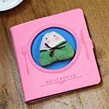Cuaderno de dibujos animados Juguete Cuaderno de peluche - Lindo libro de alimentos con forro Nuevo diseño coreano creativo Cuaderno de dibujos animados Regla Cuaderno de 80 páginas Chica