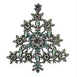 philna12Vintage Geschenk Weihnachten Schneeflocke Kristall Brosche Pin