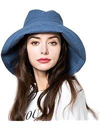 4fda4eaf15e Bucket Hat Womens Summer Sun Hats Foldable Wide Brim UV Protection Safari  Fisherman Caps with Boonie