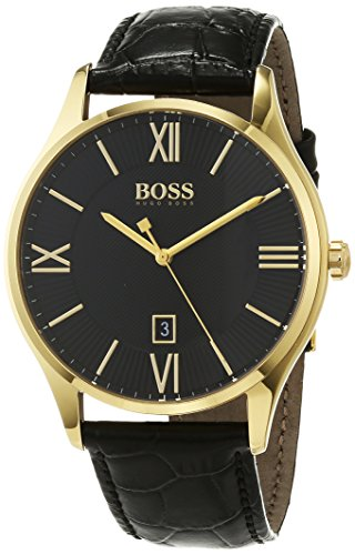 Hugo BOSS Unisex-Adult Analogue Classic Quartz Watch with Leather Strap 1513554