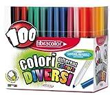 Fibracolor Coloración Plumas Colori Cónica Consejo de fibra de Super Washable- Caja de 100