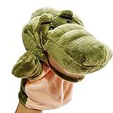Isuper Burattino di Mano Giocattoli Animali educativi Genitore-Figlio Morbidi Giocattoli di Peluche (Coccodrillo)