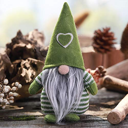 Christmas Decoration Striped Hat Tied Beard Hanging Legs No Face dol#AQ, QHJ Christmas Decorations Sale Christmas Tree Decoration Christmas Gifts (A)
