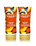 Face Pack Refreshing Fruit Face Pack Herbal Face Pack All Natural Paraben Free Sulfate Free Suitable For Both Men And Women Value Pack Of 2 X 120gms (