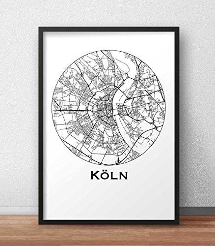 cartel-colonia-koln-alemania-minimalista-mapa-city-map-decoracion-regalo
