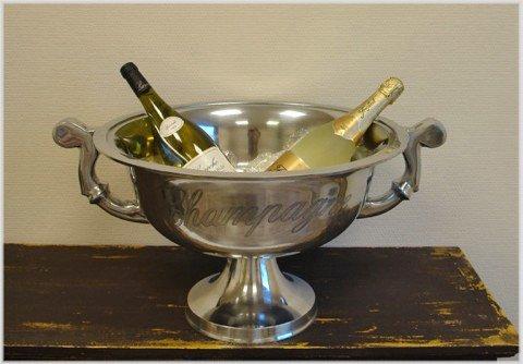 Opulenter Champagnerkühler im XXL Format Schale Sektkühler Ø 49 cm !