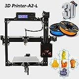 Anet A2 Impresora 3d DIY la impresión del grado industrial de la alta precisión pantalla Tamaño grande de 220 * 220 * 220mm