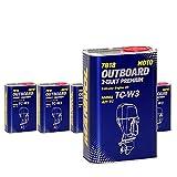 MANNOL 5 x 1L 2-Takt Premium Outboard/API TC NMMA TC-W3 Bootsmotorenöl