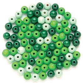 Glorex legno perle 47st Mix, Legno, Verde, 11x 8.5x 1cm