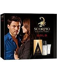 Scorpio Collection Gold Coffret d'Eau de Toilette Flacon de 75ml + Déodorant Atomiseur 150 ml + Gel Crème pour...