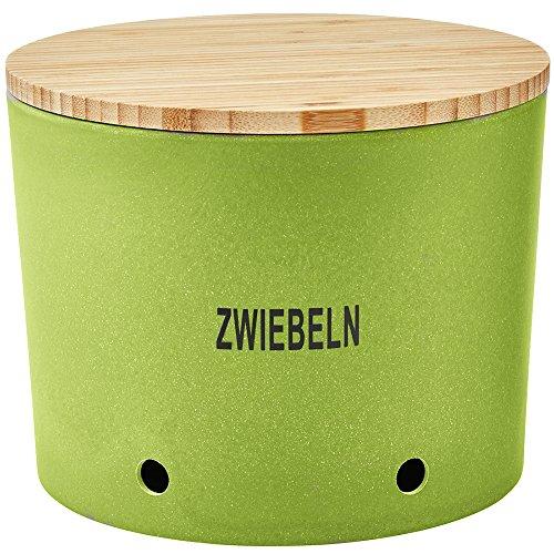 Magu Zwiebeltopf Natur-Design in grün, Bambusfasern, Getreidestärke, Holzfaser, 28 x 28 x 8 cm