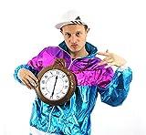 JUMBO CLOCK Medallón Disfraz Hinchable Accesorio Grande Reloj Con Cadena Rapero país de las maravillas conejo, Gánster Set