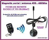 Antena / antena magnética para la automatización de la puerta y los controles alejados 433Mhz del sistema de alarma con el cable 3m de largo adicional