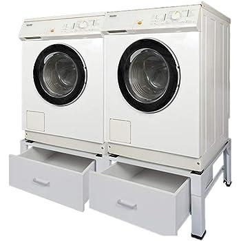 waschmaschinen komfort high untergestell unterbau f r 2 maschinen trockner und waschmaschine. Black Bedroom Furniture Sets. Home Design Ideas