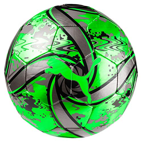 PUMA Future Flare Ball Fußball, Green Gecko Black-Charcoal Gray, 5 (Puma Ball Fußball)