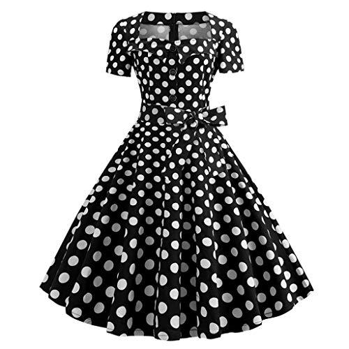 Vestidos Vintage Mujer Años 50,Gusspower Vestidos Retro De...