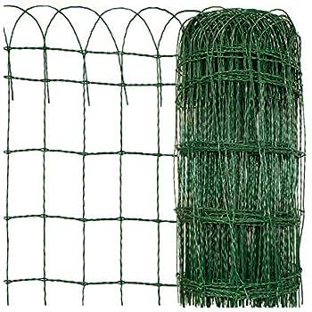 casa pura Cloture de Jardin - Grillage Cloture | Bordure de Jardin  Décorative | Protection pour Plantes Anti-Rouille | Plusieurs Tailles | 40  cm x 25 ...