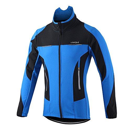 Lixada Herren Outdoor Radjacke Langarm Mantel Wasserabweisend