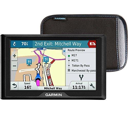 Garmin 020–00165–07 Drive 50LM Navigation par Satellite avec cartographie Europe de l'Ouest à Vie – 12,7 cm, Noir avec Coque
