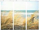 Klocke Textilbanner Textilbanner für Schaufenster - Mehrteilig - Thema: Sommer - 3 Stück Sortiert - Strand - 180cmx75cm - Inklusive Bannerstäbe & Aufhänger - Banner zum Hängen & Dekorieren