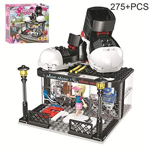 HLDX 275 + pcs Mädchen Serie Schuhgeschäft Baustein Modellbau Kinder Puzzle Montage Bausteine   (Spiderman Kostüm Verkauf)