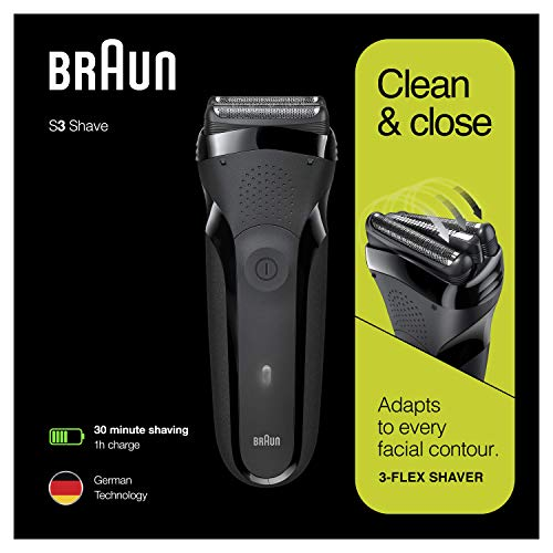 Braun Series 3 300s - Afeitadora Eléctrica Recargable, Máquina de Afeitar, Color Negro