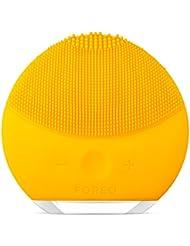 FOREO LUNA mini 2 elektrische Gesichtsreinigungsbürste und Hautpflegegerät hergestellt aus weichem Silikon für jeden Hauttyp geeignet, USB wiederaufladbar  Sunflower Yellow
