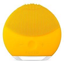 FOREO LUNA mini 2 Brosse visage en silicone doux pour tous les types de peau Sunflower Yellow, Rechargeable via câble USB
