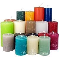 4,5 Kilo Stumpenkerzen durchgefärbt von Kerzenwelt, 1. Wahl, Kerzenpaket Kerzenset (bunt)
