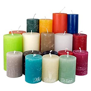 4,5 Kilo Stumpenkerzen durchgefärbt von Kerzenwelt, 1. Wahl, Kerzenpaket Kerzenset