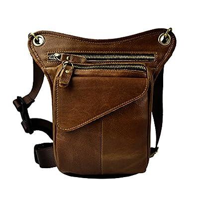 Genda 2Archer multi-usage Mini Sac à bandoulière en cuir de moto sac jambe extérieure Bike cuisse pack sac de taille
