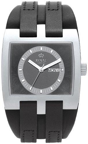 Royal London 40124-02 - Reloj para hombre, correa de cuero color negro