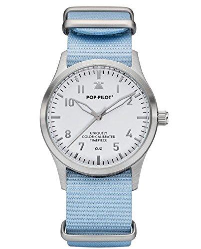 POP-PILOT® Fliegeruhr CUZ T04 I pastel blau - 2