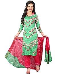 MEGHALYA Women's Satin Cotton Dress Material (V Gulty Satin Cotton Dress-4038)