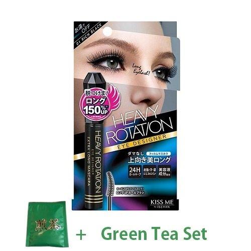 KissMe Isehan Heavy Rotation Eye Designer Extra Long Mascara - Rich Black (Green Tea Set)