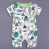 LEXUPE Kleinkind Kinder Baby Jungen Cartoon Print Strampler Overall Outfit Kleidung Sommer(Grün,59)