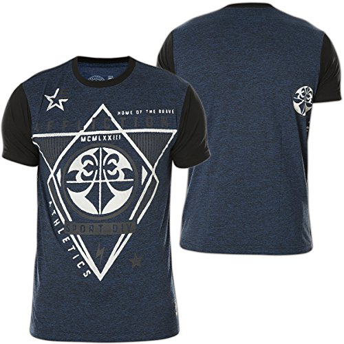 Affliction T-Shirt Brave Athletic Blau Blau