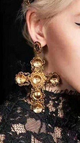 Zantec Pendientes Cool cuelga los pendientes, Declaración gótica de la mujer chapado en oro grandes
