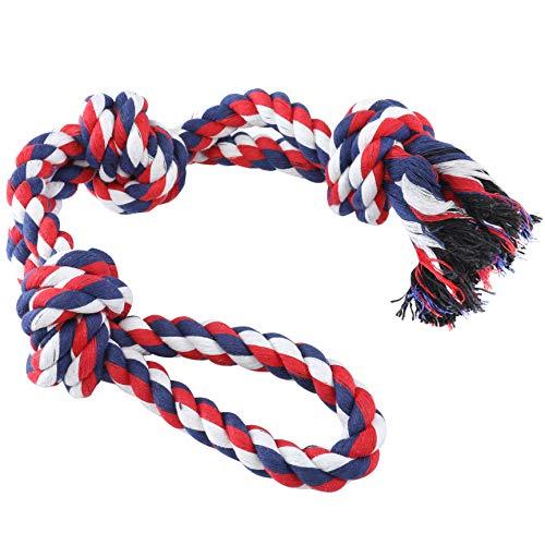 HOKEMP Große Haustier Hund Spielzeug Seil - Baumwolle Frisbee Hundespielzeug Unzerstörbar für Hunde Training Chew Zahnen (Eine Packung mit Einer) -