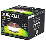 Duracell Solar LED Leuchte für Zaunpfähle, Garten Pfostenkappen, Zaunpfosten GL067SSDU mit 2 Adaptern in Kupfer Design und Kunststoff
