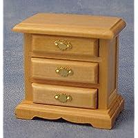 Dolls Houses-Bedroom-DF941P-Comodino a 4 cassetti, in legno