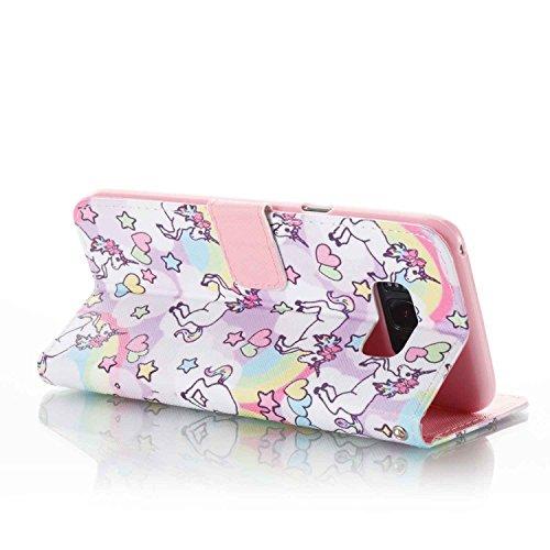 PU Galaxy S8 Plus Hülle, LAOKE PU Leder Hülle für Samsung Galaxy S8 Plus hülleTasche Schutzhülle Handyhülle (+Staubstecker) (8) 13
