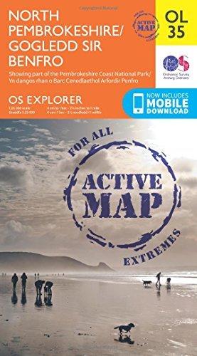 OS Explorer ACTIVE OL35 North Pembrokeshire/Gogledd Sir Benfro (OS Explorer Map Active) by Ordnance Survey (2015-06-10)