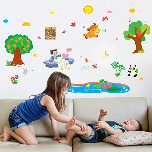 Wandbild ZOZOSO Märchen Gott Stift Ma Liang Geschichte Schlafzimmer Klassenzimmer Dekoration Selbstklebende Wandaufkleber