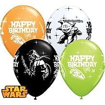 Star Wars feliz cumpleaños 11cm Qualatex globos de látex x 10