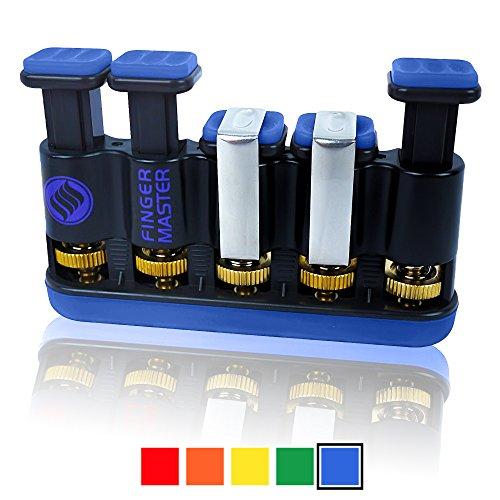 Finger Master mano giri-Attrezzo per allenare Artrite Terapia e rafforzamento sia per chitarra pratica Impugnatura e dita, Arrampicata, allenamento, Fitness e altri sport (ideale per adulti e bambini), Electric Blue